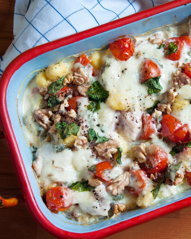 Gnocchi-Gorgonzola-Auflauf mit Hähnchen