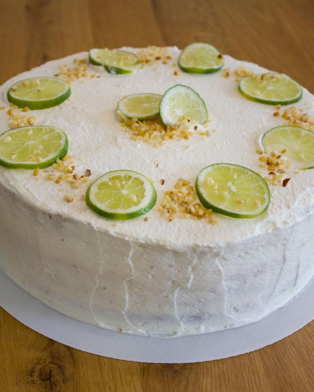 Limetten-Sekt-Torte