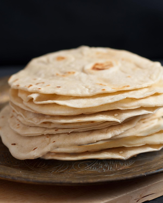 Mexikanische Weizen Tortillas