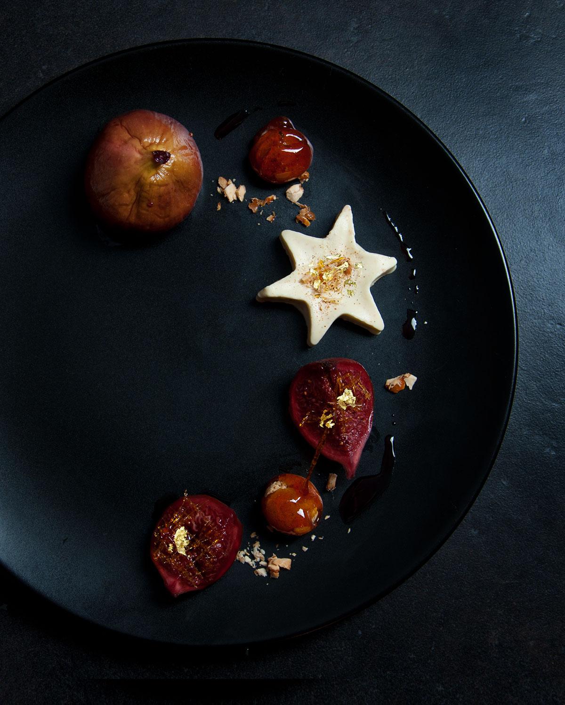 Amarettini-Parfait mit Rotweinfeigen