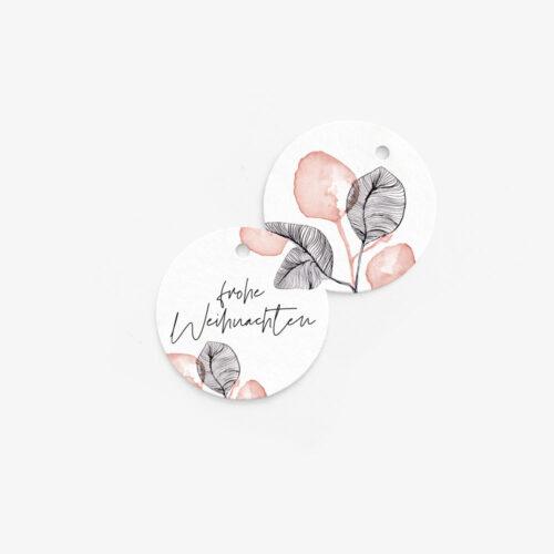 Anhänger in modernem Blumen-Design für Geschenke