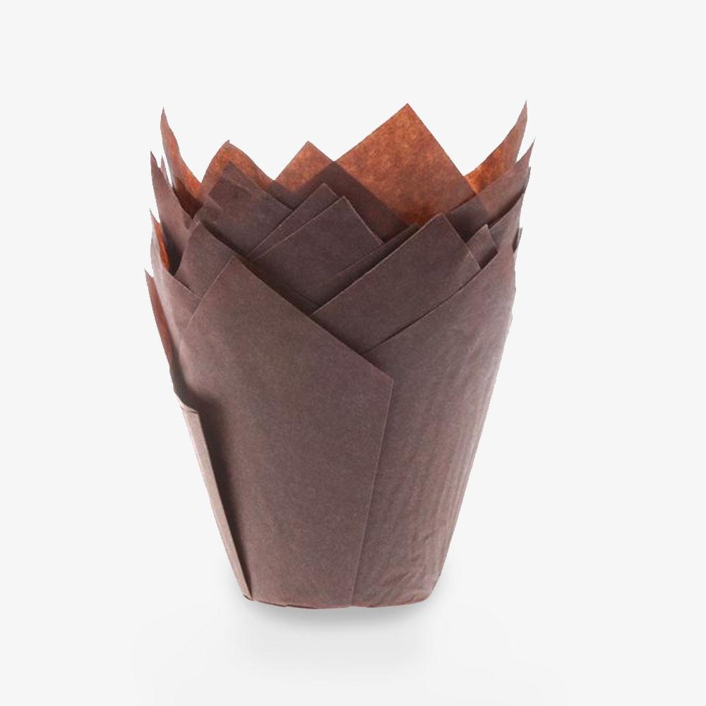 Braune Tulpen Muffinförmchen
