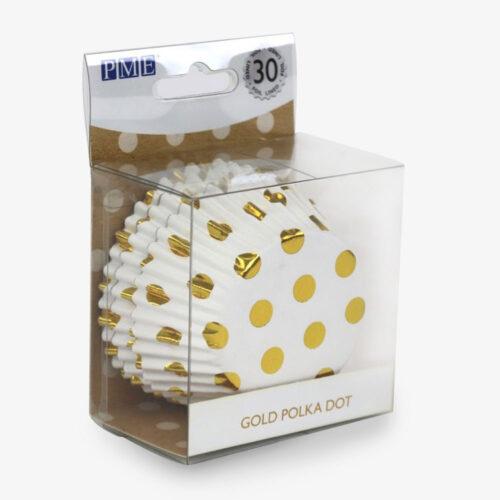 Muffinförmchen Goldene Punkte