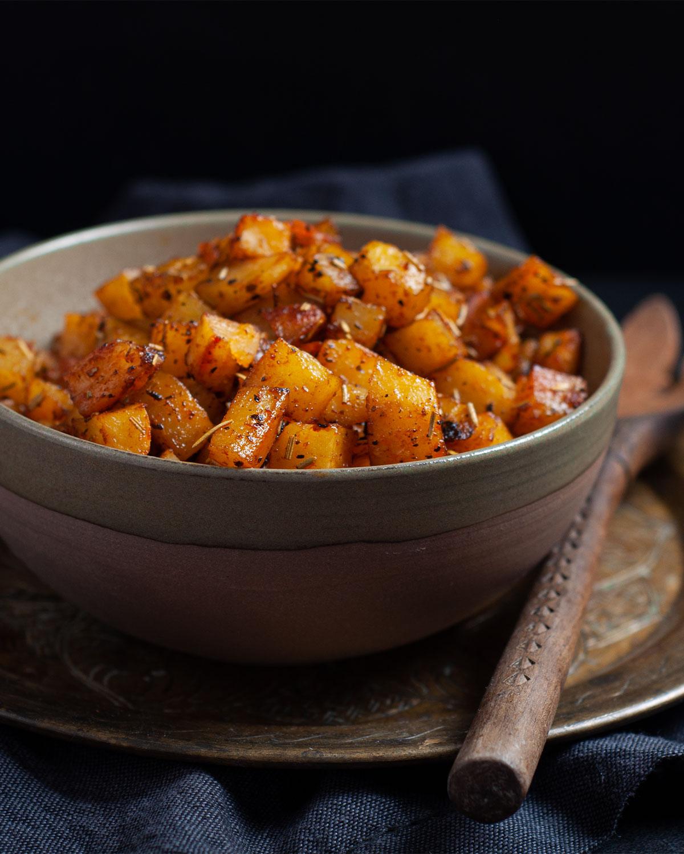 Rezept würzige Kartoffelwürfel aus dem Ofen
