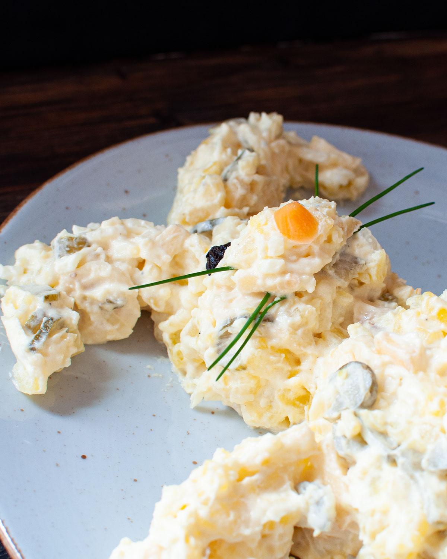 Oster-Kartoffelsalat mit Mayonnaise
